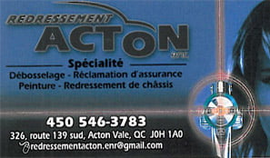 Redressement Acton
